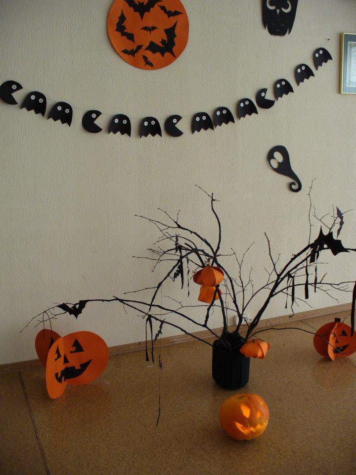 Декорации своими рука для хэллоуина 158